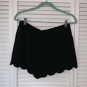 Black scallop shirts